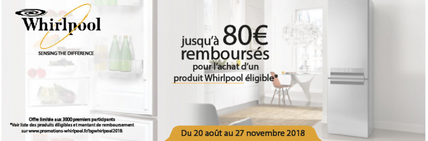Offre promo Whirlpool